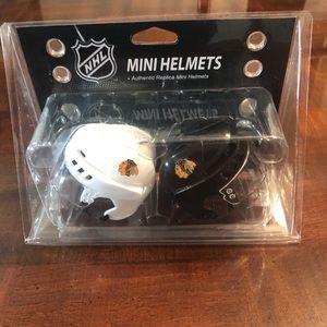 "NHL Mini 3"" Chicago Blackhawks Set of 2 New"